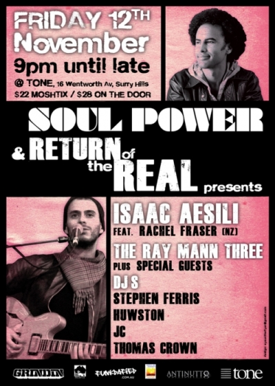 Soul Power and Return of the Real, Tone Nightclub, 12 November 2010